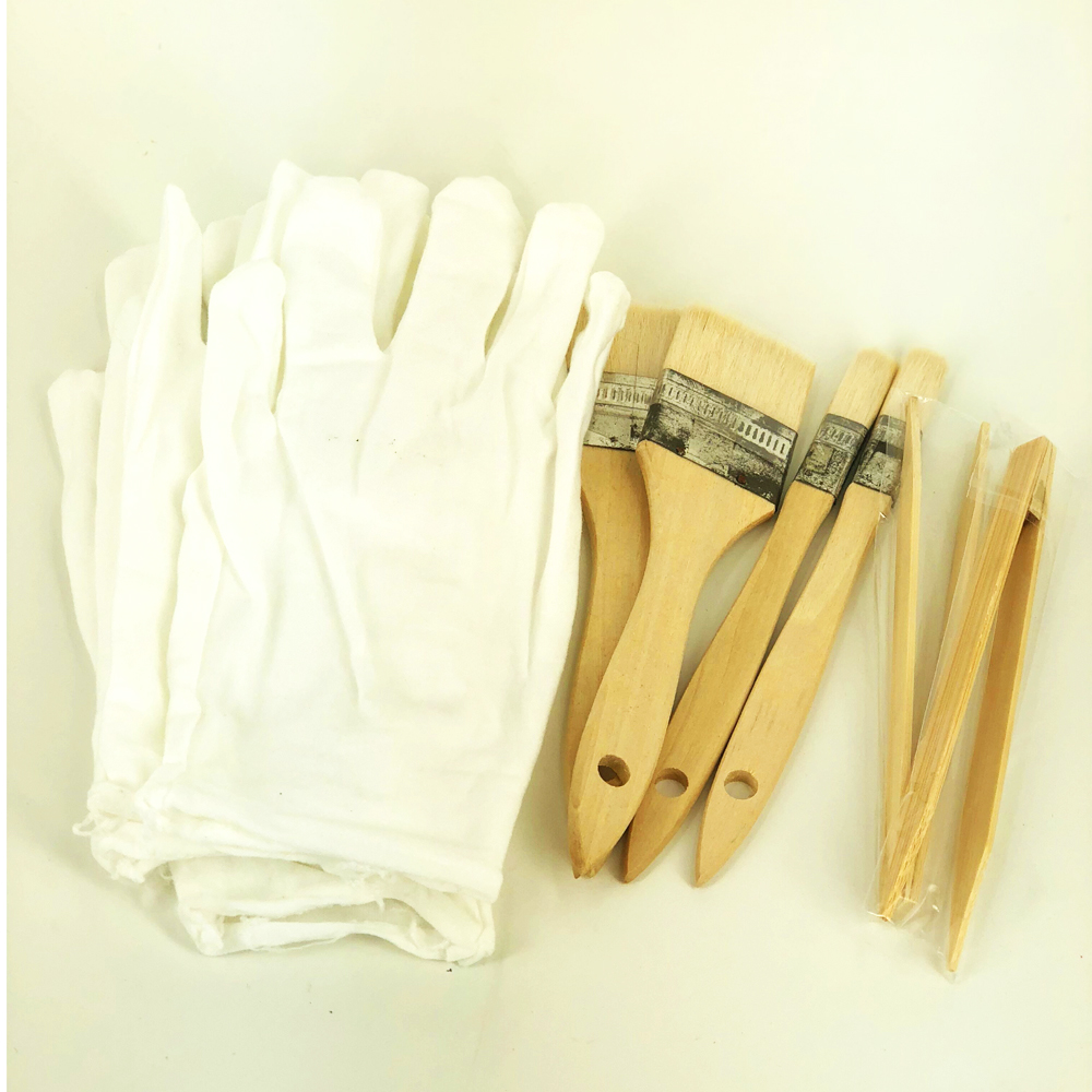 DIY Gilding Tools Of 4 Brushes 2 Pairs Of Cotton Gloves 2 Clips - A Good Helper For Gilding Gold Leaf And Silver Leaf