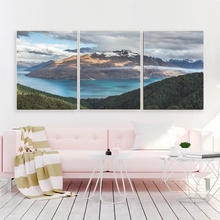 Laeacco Canvas Calligraphy Painting 3 Panel Abstract Mountain Posters and Prints Wall Artwork Pictures Home Living Room Decor