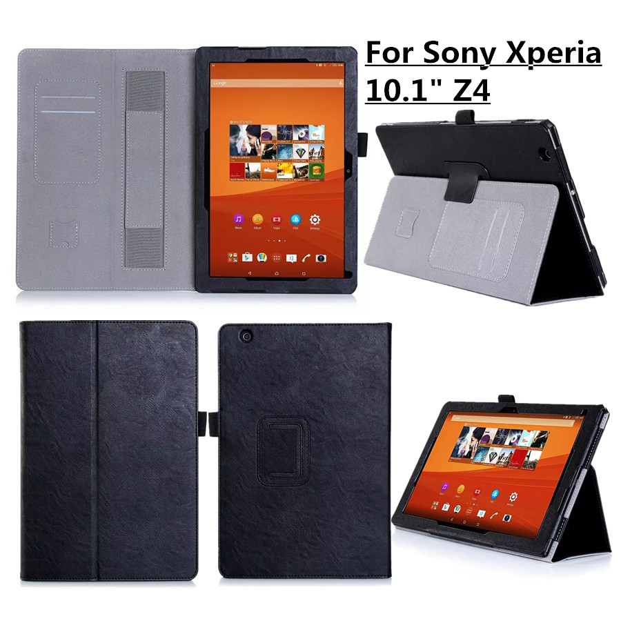 Luxury PU Leather Case Cover for Sony Xperia Z4 Tablet 10.1 Stand Protective Shell Cover with Hand Holder for Sony Xperia Z4 dolmobile luxury print flower pu leather case cover for chuwi hi13 13 5 inch tablet with hand holder stylus pen