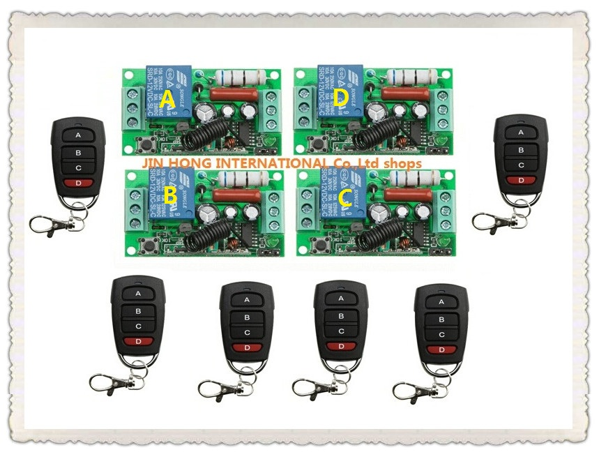 10pcs RF Wireless 220V 10A 1CH Remote Control Switch 4* Receiver & 6* Transmitter 315/433 MHZ Smart Home Switch сникеры quelle bugatti 95279201