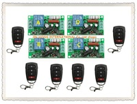 10pcs RF Wireless 220V 10A 1CH Remote Control Switch 4* Receiver & 6* Transmitter 315/433 MHZ Smart Home Switch