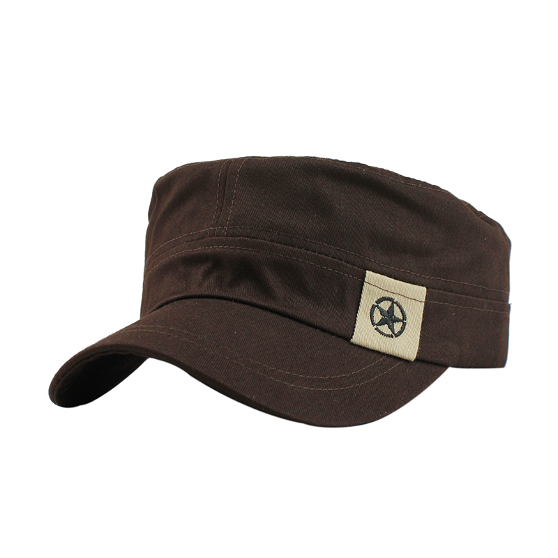 57de4100e75 Classic Vintage Flat Adjustable Fitted Cap Warm Casual Star Military ...