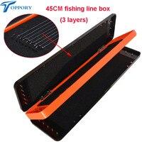 Toppory 45CM Durable Herabuna Fishing Line Box 3 Layers Storage Box For Fishing Line Fishing Gear