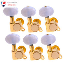 1set 6R  Enclosed Gold Tuning Pegs Machine Head Tuners for Acoustic Guitar