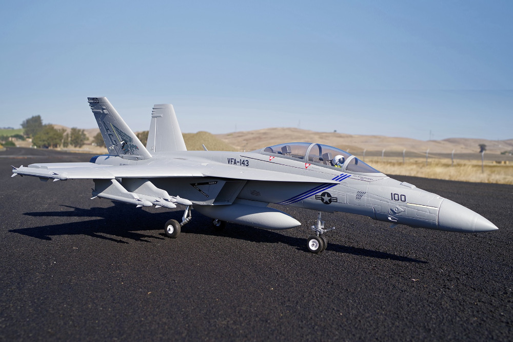 FMS RC Airplane F/A-18F F18 Super Hornet 70mm Ducted Fan EDF Jet Big Scale Model Plane Aircraft PNP 6S with Retracts Flaps techone f 18 combo to f18