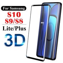 3D Защитное стекло для samsung S10 Plus защита экрана samsun galaxy s9 s8 lite светильник s 8 9 10 лист протектор экрана 9 s 8s