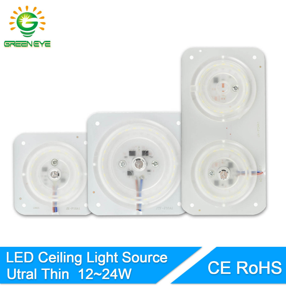 GreenEye Led Light Source Module 12W 18W 24W For Ceiling Lamp Downlight Accessory Magnetic Modified Light Board Led Bulb 220V