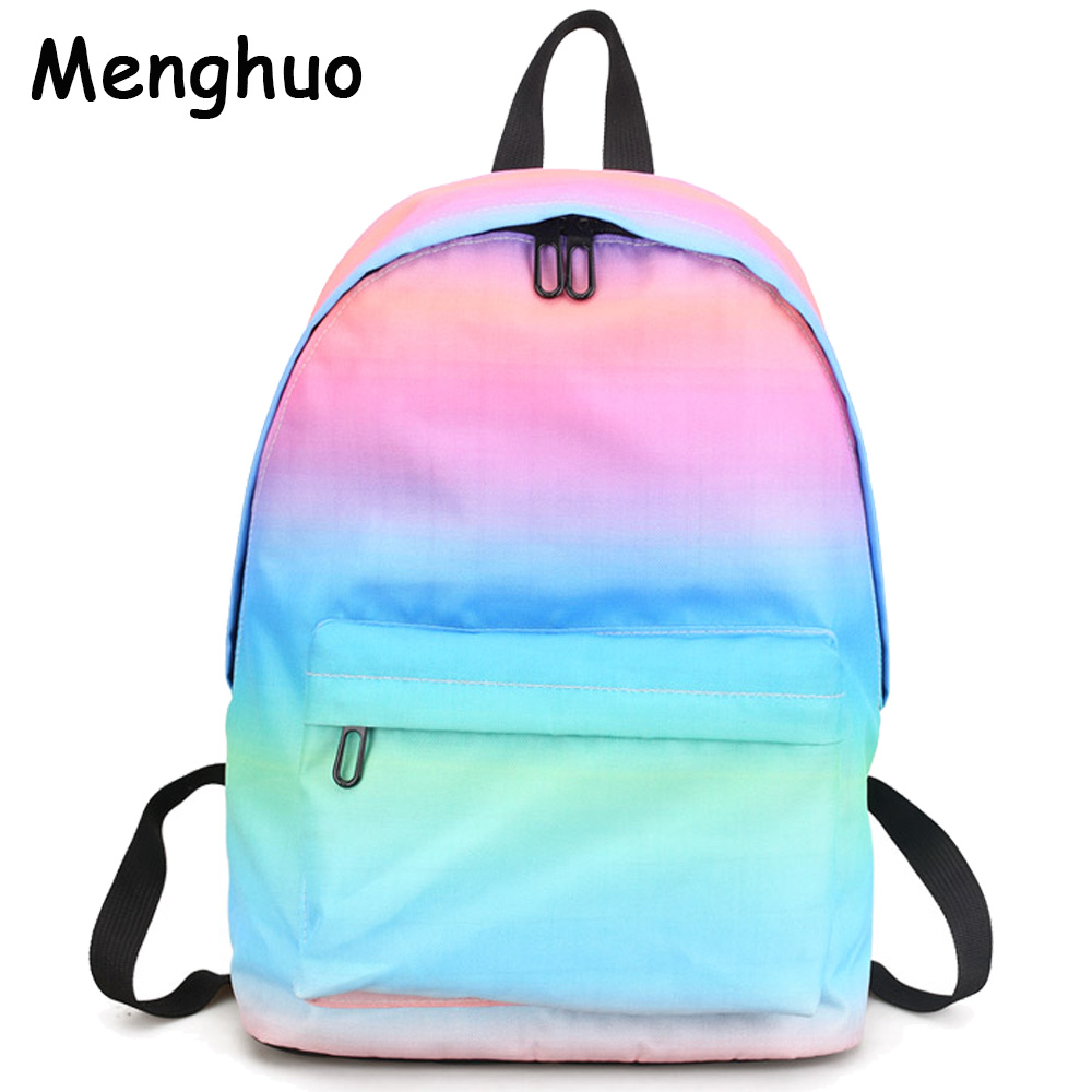 Menghuo أحدث النساء حقائب الظهر 3d الطباعة حقيبة الإناث العصرية مصمم حقائب مدرسية المراهقين الفتيات الرجال حقيبة سفر mochilas