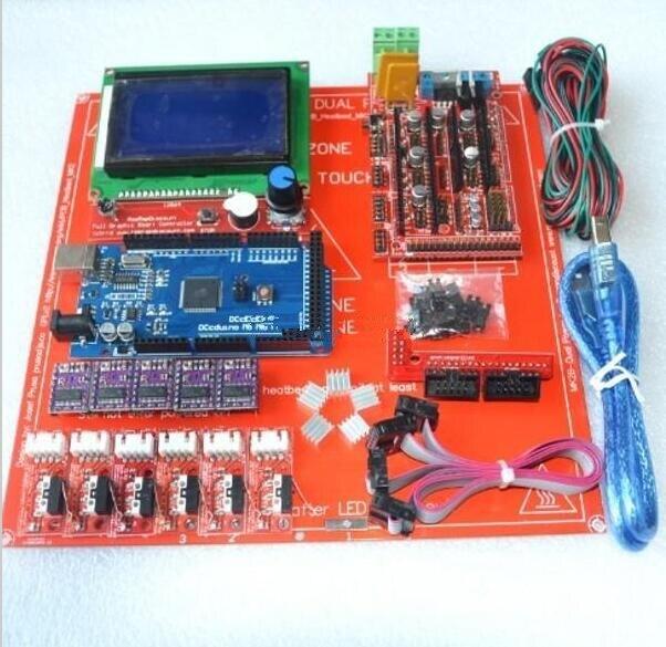 Reprap Rampas 1.4 Con Kit de Mega 2560 r3 + Heatbed mk2b + 12864 Controlador LCD