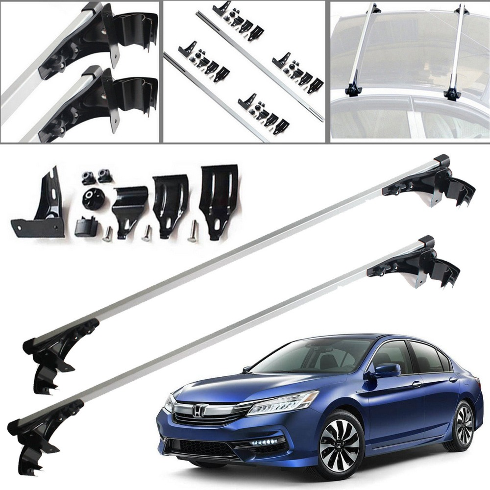 47 Car Top Luggage Cross Bar Roof Rack Carrier Skidproof For Honda Accord Civic 2 Year Warranty & Free Shipping teaegg top roof rack side rails luggage carrier for hyundai tucson ix35 2010 2014