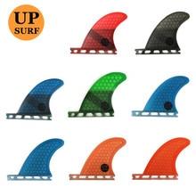 Surf Fins future GL rear fins quad set surf Honeycomb fiberglass orange/blue color 2pcs