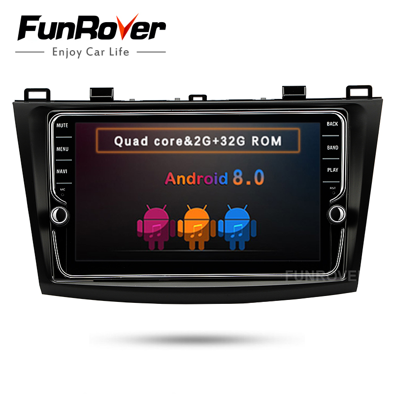 Funrover android 8.0 8 IPS 2 din car dvd radio tape recorder multimedia for MAZDA 3 mazda3 Axela 2010-2013 gps stereo navi wifi funrover 9 2 din android 8 0 car radio multimedia dvd player gps for great wall haval h3 h5 2010 2013 glonass wifi fm quad core