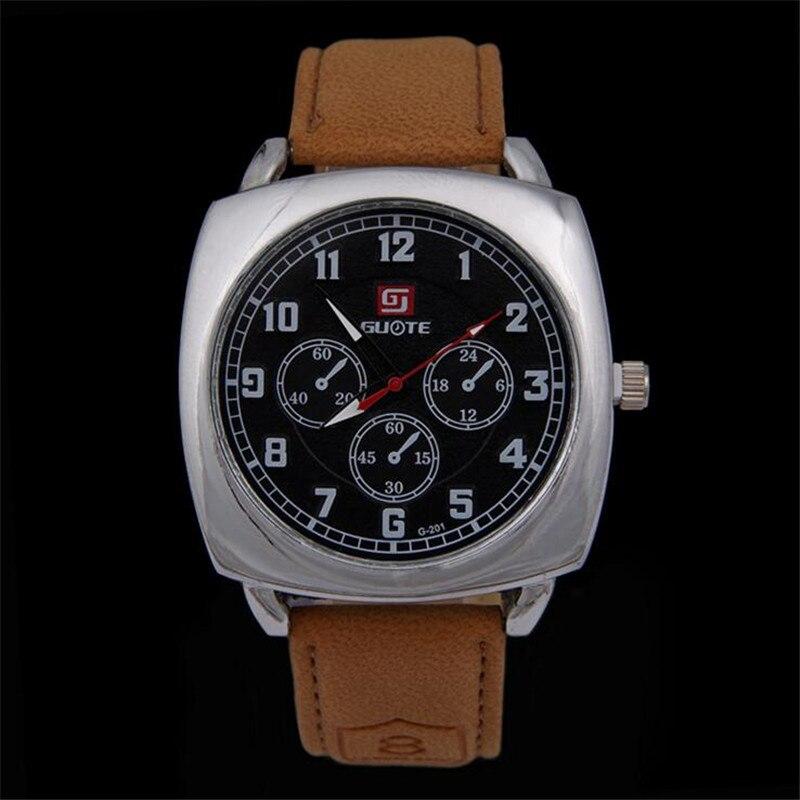 Men Square Quartz Watch Sport Watches For Men Military Watch Reloj De Los Hombres Clock Relogio Masculino Erkek Kol Saati 216