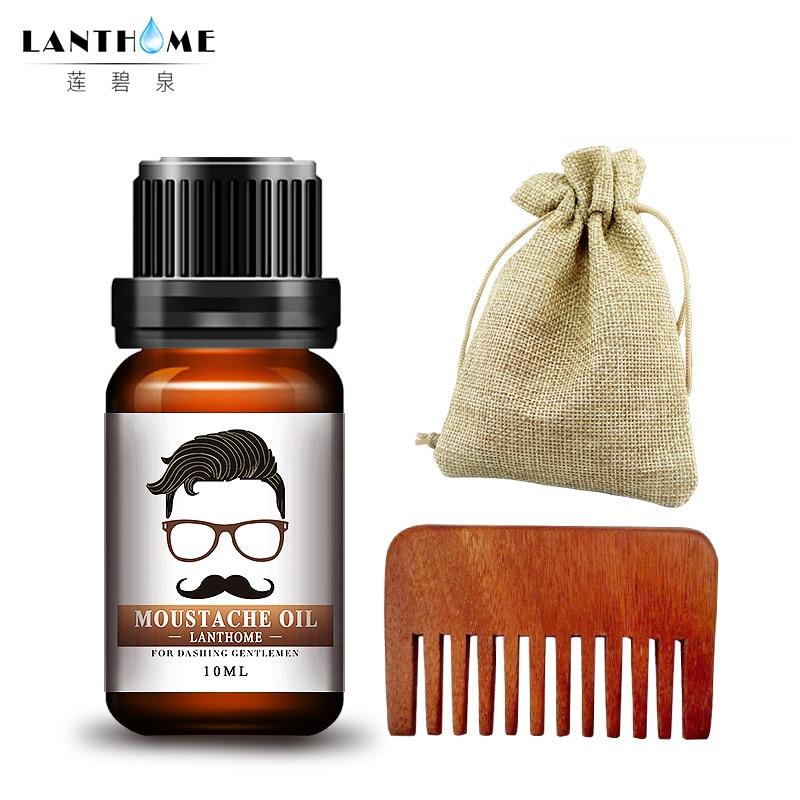 Lanthome нежный Для мужчин борода масло увлажняет волос на лице усы Масла чистое органическое масло для бороды растет лица волосы для Для мужчи...