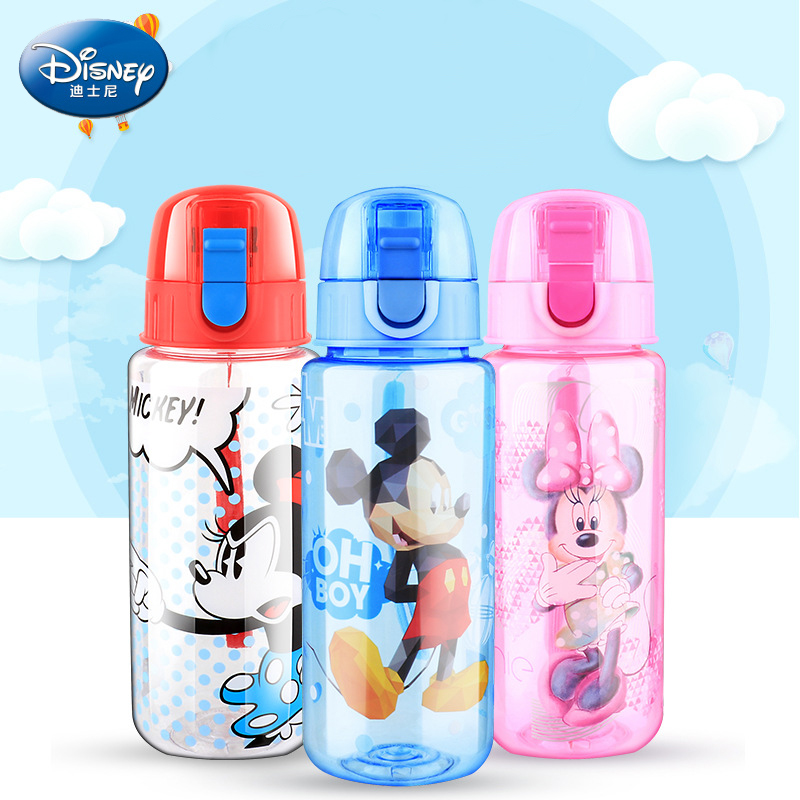 Disney Children's Cup Fashion Cartoon Hand Cup Gift Student Straight Drink Cup