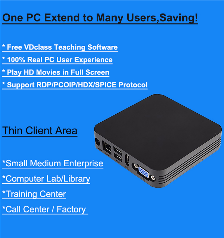 US $69 92 30% OFF|Vmware PCOIP Citrix thin client,RDP 8 1 Remote FX thin  client pc with cheap price support full screen HD videos, Remote Offices-in