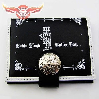 2015 real new freeshipping christmas costumes halloween costumes for black butler ciel phantomhive logo pu wallet