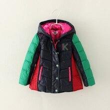 New cartoon Minnie coats girls winter warm Coat girls cotton padded jacket Children Outerwear Girl Dot Hooded Baby clothing 6