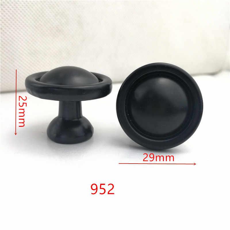 Alliage de Zinc noir armoire poignées style américain cuisine placard porte tire tiroir boutons mode meubles poignée B-952