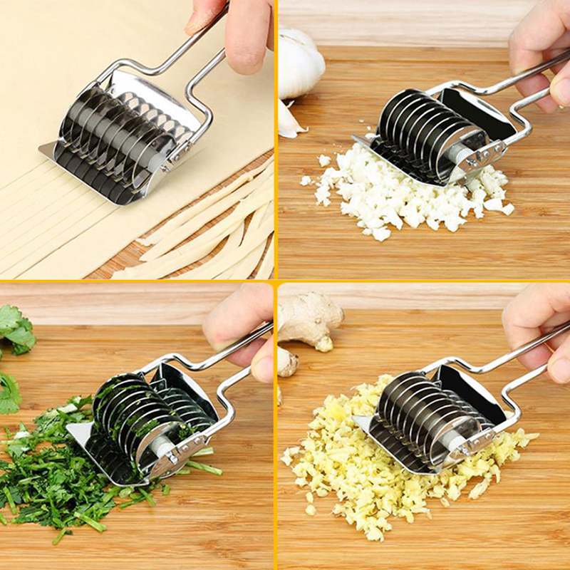 1Pcs 16.8*7.4cm Kitchen Accessories Gadgets Stainless Steel Onion Chopper Slicer Garlic Coriander Cutter Cooking Tools image