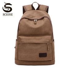 Scione Retro Canvas Backpack Teenagers School Backpack Men Laptop Bags Mochila Women Travel Shoulder Rucksack Unisex