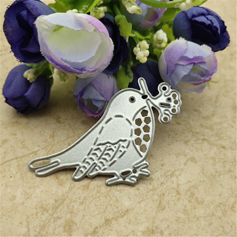 1 Pcs Birds Metal Cutting Dies Stencil DIY Scrapbooking Photo Album Decor Embossing Cards Making DIY Crafts