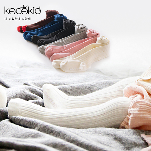 Kacakid Baby Children Girls Tights Lovely Cute Pantyhose Children Girls Tights Solid Girl Stockings Cotton Casual 5Colors Ka1103