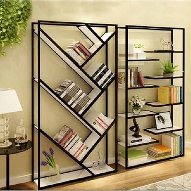 Legno ferro battuto scaffale libreria scaffale soggiorno pannelli di ...