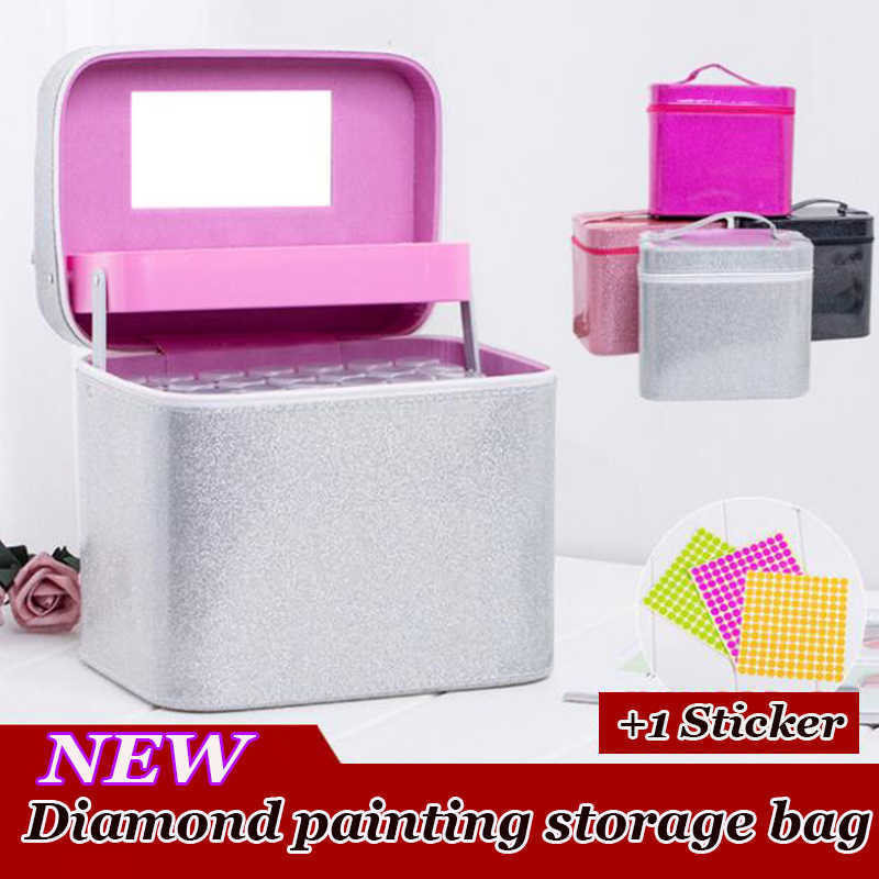 126 Bottles Diamond Painting Cross Stitch Accessories Tool Box Container Diamond Storage Full Square 5D Embroidery Mosaic