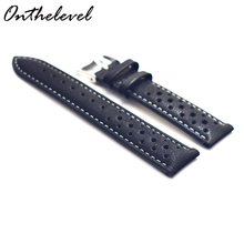 Watch Band Genuine Leather straps 18mm 20mm 22mm 24mm watch accessories klittenband men High Quality Watchbands