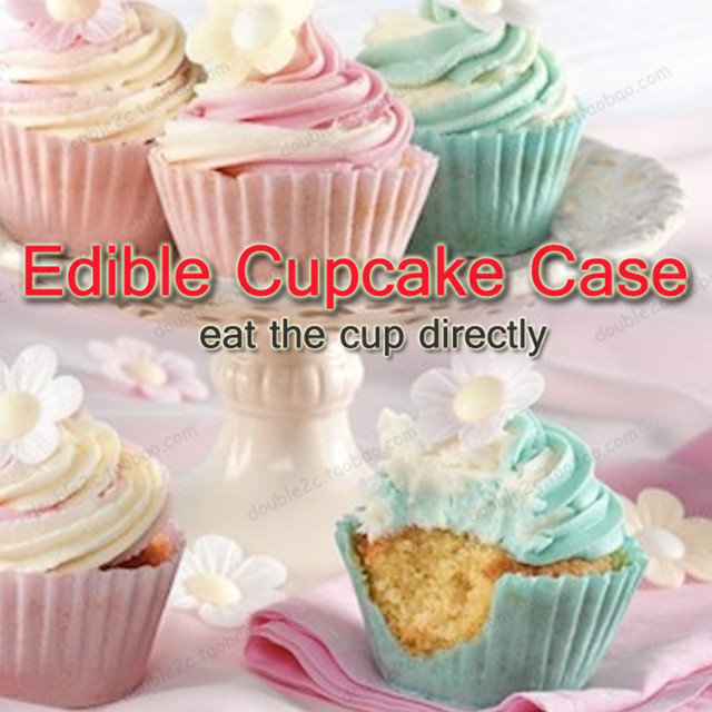 Edible cupcake wrappers6pcs edible wafter paper cupcake caseeat the cup directly & Edible cupcake wrappers6pcs edible wafter paper cupcake caseeat ...