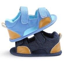 Новый Летний Дышащий Мальчиков Дети Сращивания Цвет Выдалбливают противоскольжения Случайные Холстины Младенца Cack Обувь Детская Обувь