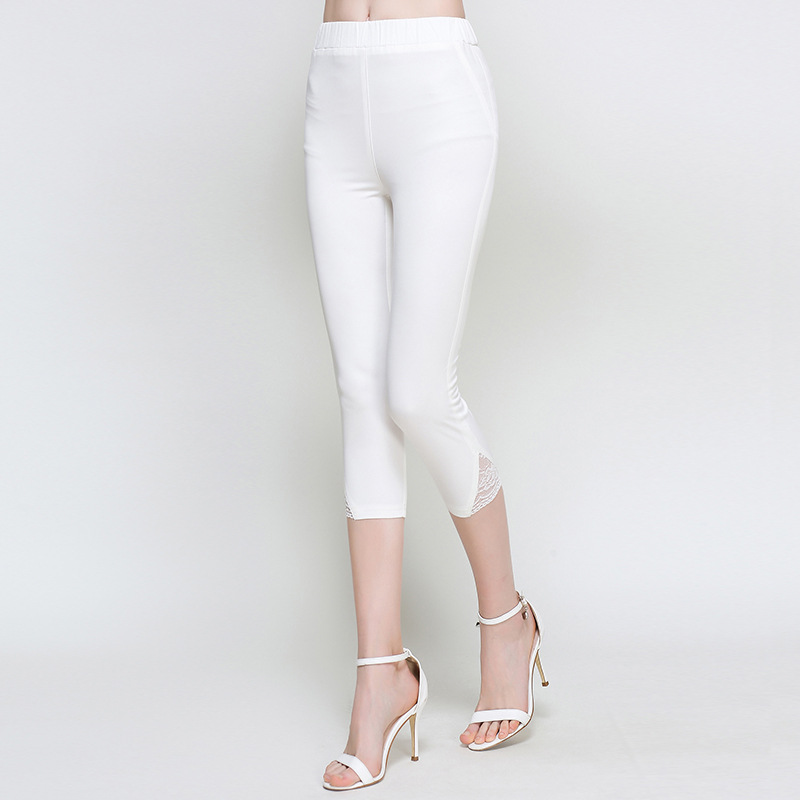 White Stretch Capris Promotion-Shop for Promotional White Stretch ...