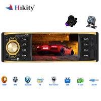 Hikity 1 Din автомобильный радиоприемник 4019B аудио стерео USB AUX FM Bluetooth радиостанция MP3 плеер с зеркалом заднего вида Камера дистанционного Управл...
