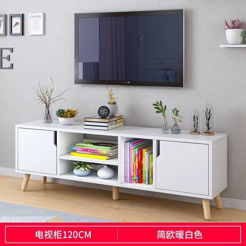 Salon en bois meuble TV en bois massif meuble de rangement moderne table à thé mode grain de bois extensible style chinois - 6