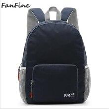 2c59583e862f FanFine foldable backpack outdoor folding bag wholesale mochila feminina  Preppy Style Soft Female Design School backpacks