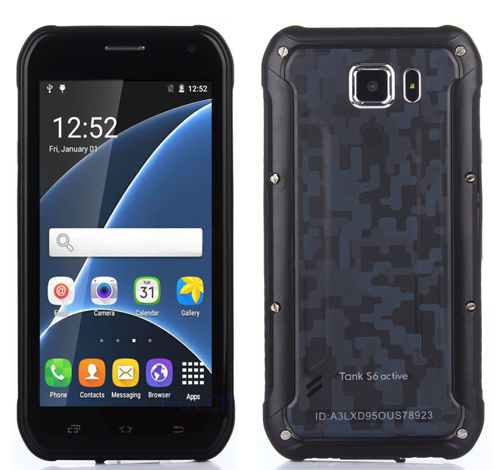 2016 Rugged Android Smartphone Waterproof Phone Shockproof Tank S6 MT6580 Quad Core 3G Dual SIM Mobile