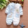 Осень ребенка комбинезон 100% хлопок мальчиков и девочек одежда новый длинным рукавом комбинезоны для новорожденных детская одежда комбинезон