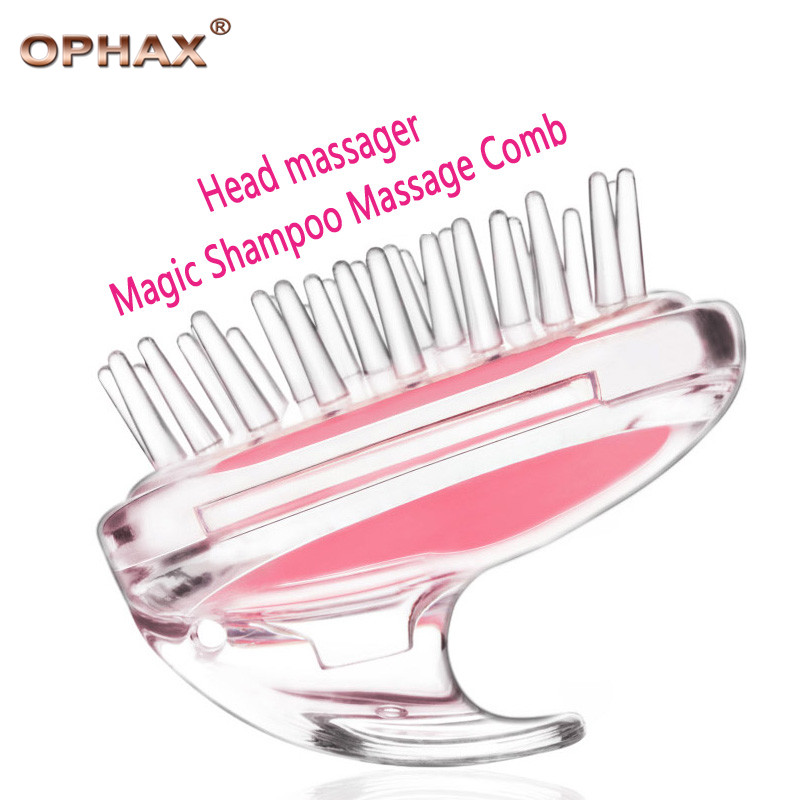 OPHAX Rabbit Head Massager Magic Shampoo Massage Comb Bath Massage Brush Scalp Massager good for Hair loss men and women laser comb treatment fast activate hair follicles hair regrowth micro current scalp massage instrument for thinning hair