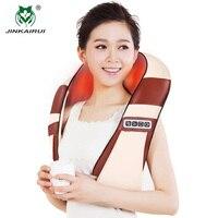 JinKaiRui 4D Infrared Heating 12 Massage Balls U Shape Electric Shiatsu Kneading Back Neck Shoulder Body Massage Pillow Car Home