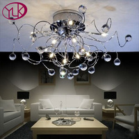 Free Shipping NEW 11 Light Chrome K9 Crystal Chandelier L680mm W680 H300mm