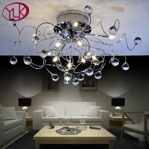Youlaike Modern Crystal Chandelier For Bedroom Chrome Flush Mount LED Chandeliers Lighting brand new hot selling high quality 24x professional makeup set pro kits brushes kabuki cosmetics brush wholesale retailtool