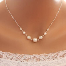 Fashion Charm Simulated-pearl Pendant Retro Choker Necklace For Women Silver Color Short Chain Colar Necklace Wedding Jewelry цены