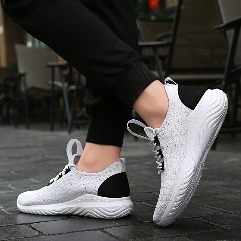 2019 Plus Size men sneakers black trainers Comfortable designer adult summer fashion Mesh Breathable men shoes casual #KT1828