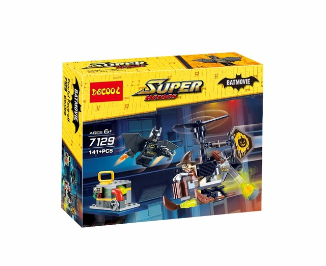 Decool 7129 141 Pcs batmobile Batman vs Espantalho legoings filme para minifigure Building Block Bricks presentes Brinquedos super-heróis