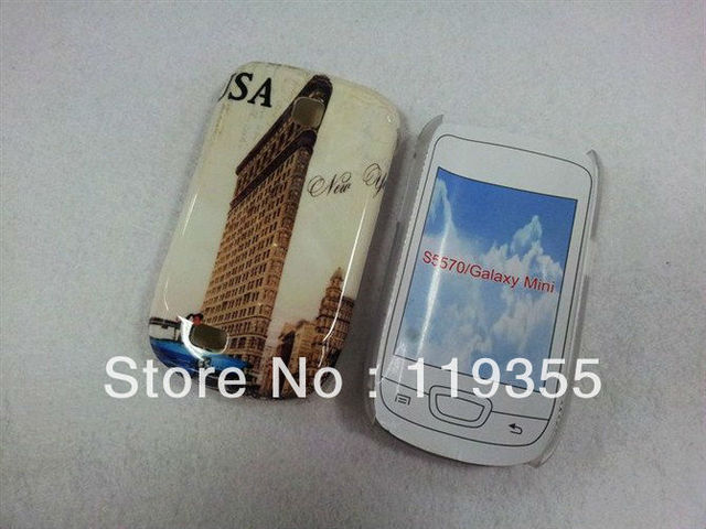 Retail New York City View Hard Back Case Cover For Samsung Galaxy Mini 5570, Freeshipping