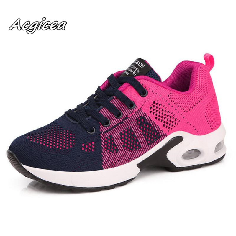 2018 spring new flying woven shoes women breathable cushion air shoes fashion casual shoes light mujer Zapatillas de correr s077 women s shoes 2017 summer new fashion footwear women s air network flat shoes breathable comfortable casual shoes jdt103