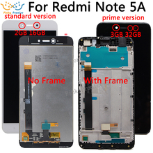 "5.5"" 720x1080 IPS Display For XIAOMI Redmi Note 5A LCD Touch Screen With Frame for Xiaomi Redmi Note 5A Prime LCD Y1 / Y1 Lite"