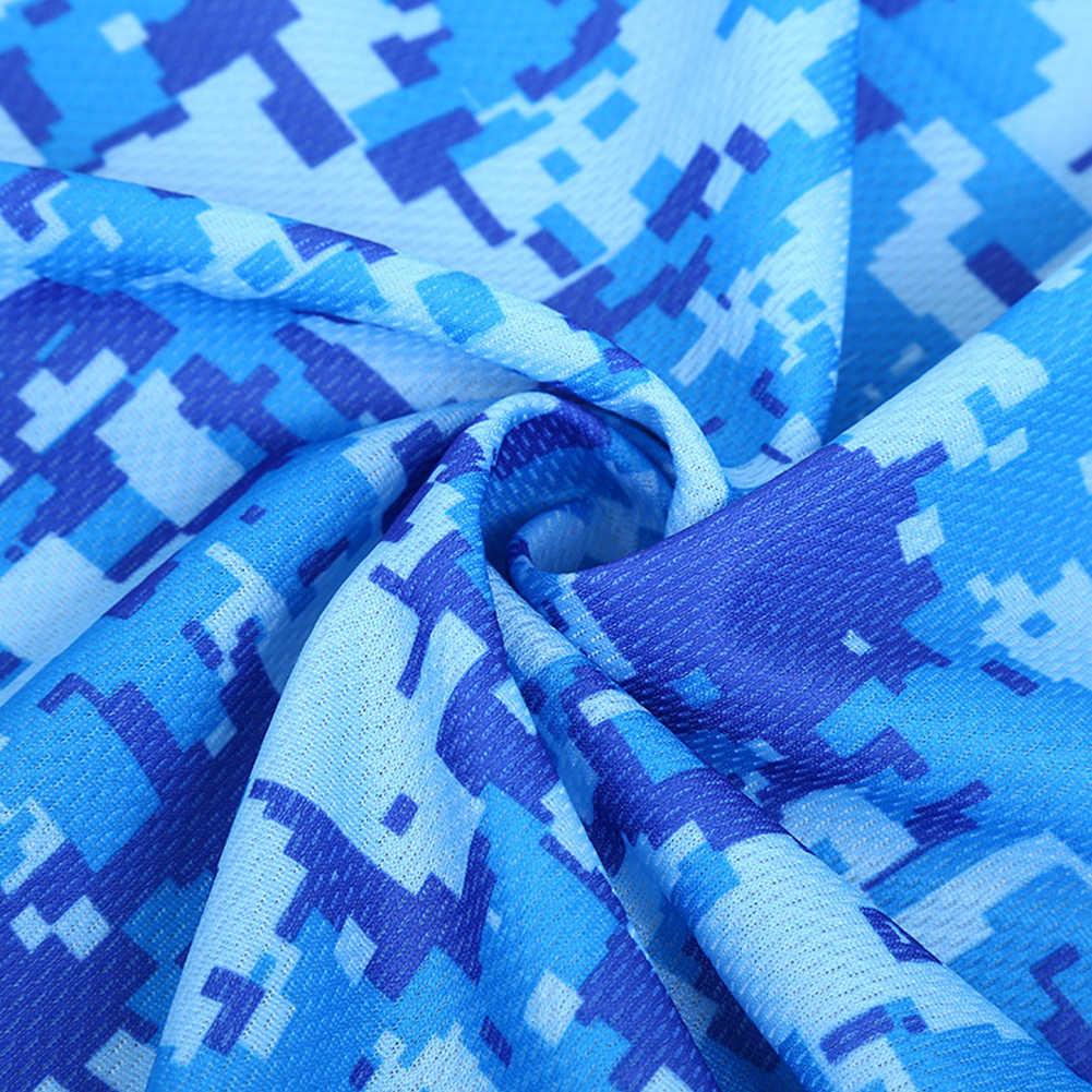 Toallas deportivas al aire libre estampado de camuflaje Yoga Toalla de Fitness fibra manta de secado rápido baño piscina