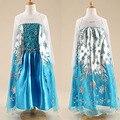 Alta calidad de encargo Elsa & Anna princesa de las muchachas del paño partido del vestido del Vestidos bebés del verano del bebé niños Cosplay Vestidos